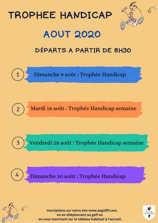Trophées Handicap du mois d'août.
