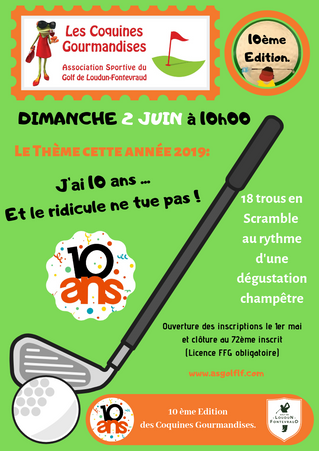 Clôture des inscriptions aux Coquines Gourmandises du dimanche 2 juin.