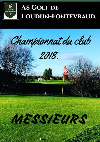 RAPPEL: Championnat du Club Messieurs.