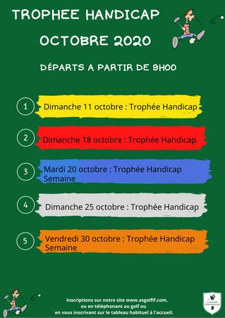 Trophées Handicap du mois d'octobre.