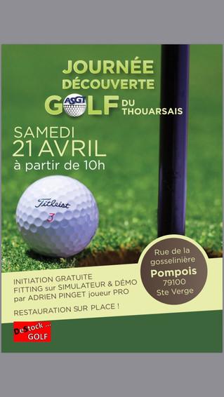 Journée découverte du golf du Thouarsais le 21 avril 2018.