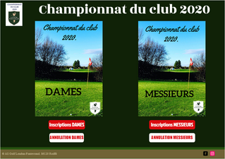 CHAMPIONNAT DU CLUB 2020.