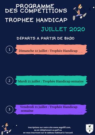 Trophées Handicap du mois de juillet.