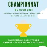CHAMPIONNAT DU CLUB 2021.