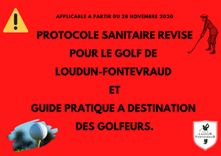 Protocole sanitaire révisé pour le Golf de Loudun-Fontevraud.