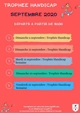 Trophées Handicap du mois de septembre.
