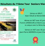 Résultats du 11ème Tour Seniors Vienne.