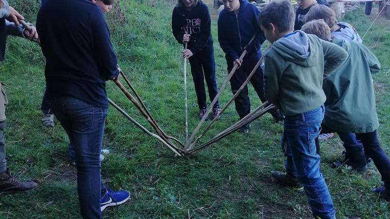 Waldläuferbande Stockkampf Training