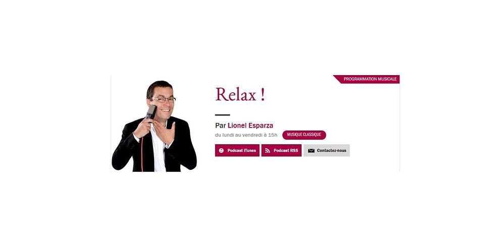 """Antoine Guerber dans l'émission """"Relax !"""" avec Lionel Esparza"""