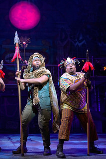 """Production still from the musical """"Kiss My Aztec"""", performed at Berkeley Rep and La Jolla Playhouse."""