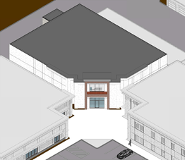 Building 4 - Aerial with roof