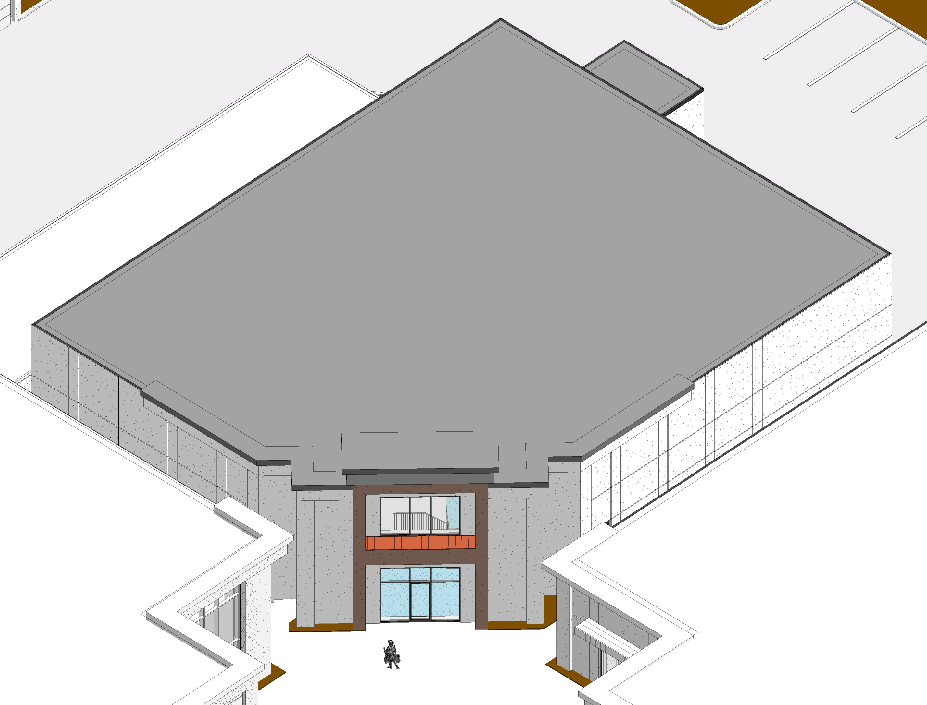 Building 7 - Aerial with roof