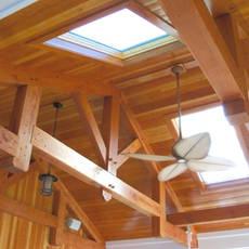 Custom skylight woodwork