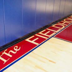 Basketball court paint detail