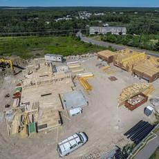 Plainville multibuilding neighborhood - framing
