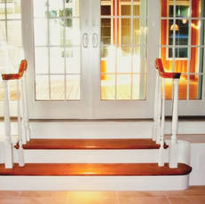 French door step entrance