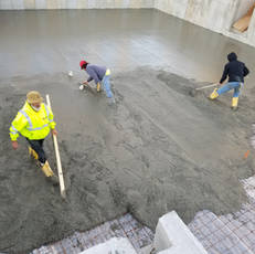 Cement pouring over air seal system