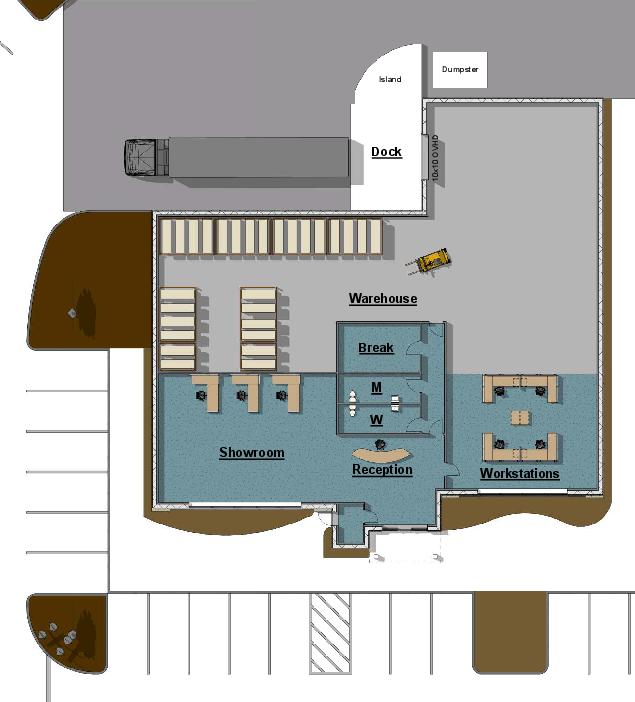 Building 1 - Footprint