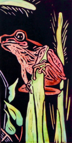 Three frogs black