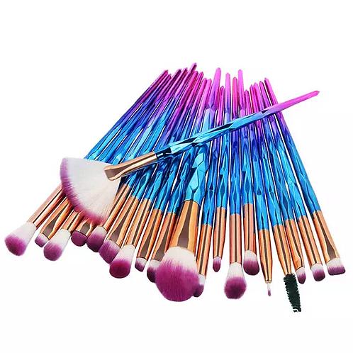 Luxury Beauty Eye Brush Set, 20 Pcs Unicorn Eyebrushes concealer brushes