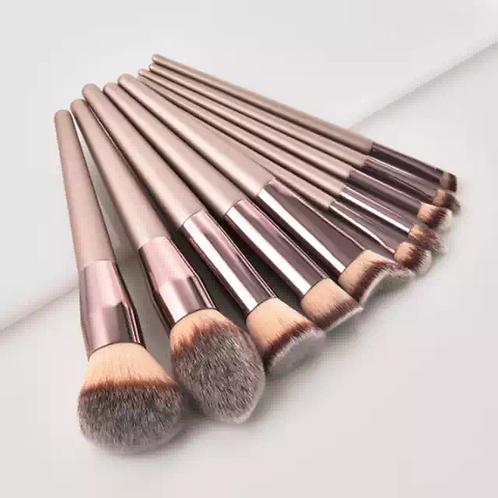 Luxury Beauty Makeup Brushes Set Premium Synthetic Foundation Powder Brushes