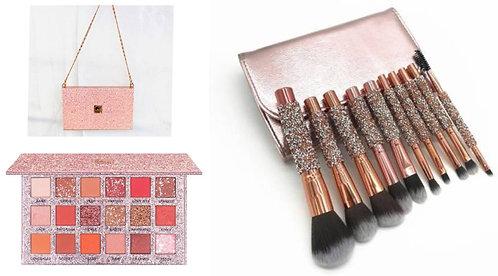Luxury Beauty Caiji Eye Shadow Palette & 10pcs Makeup brushes with pu bag mmmmmm