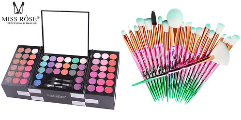 Luxury Beauty MISS ROSE  Eyeshadow Palette 148 colors and 20pcs makeup brushes