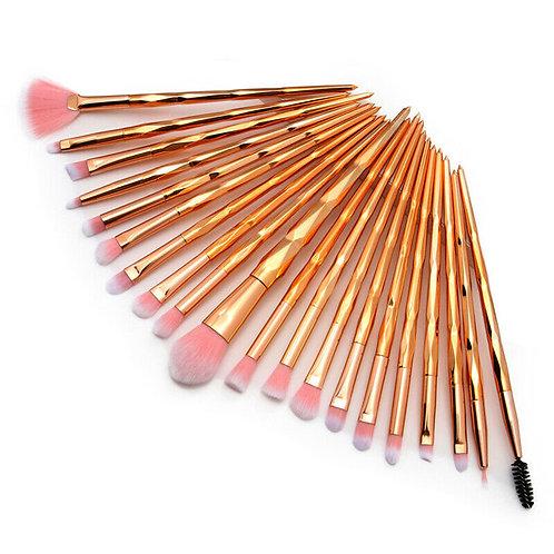 Luxury Beauty Makeup Brushes 20Pcs Rainbow Diamond Handle Brushes