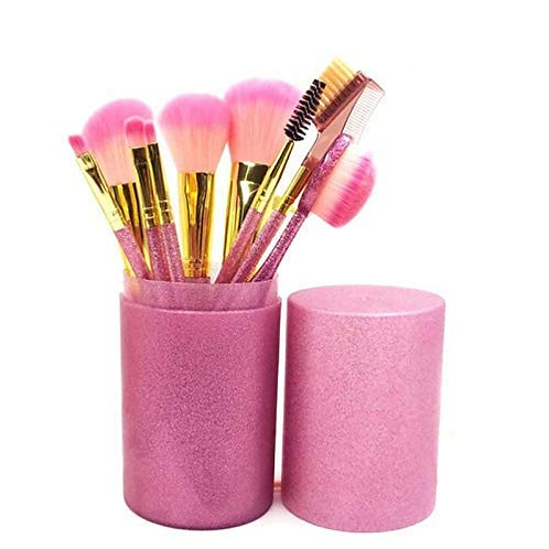 Luxury Beauty Makeup Brushes 9Pcs/Set Brush Kit Cup Soft Synthetic Glitter Handl