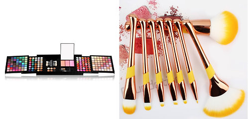 Luxury Beauty Miss Rose Eye Palette 177 colors & 8pcs Natural Makeup Brushes