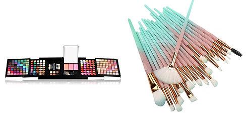 Luxury Beauty Miss Rose Eye Palette 177 colors & 20pcs Makeup Brushes (Combo)