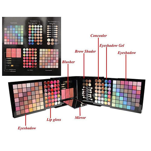 Luxury Beauty Makeup kit 177 shades Professional colors lipgloss eye colors