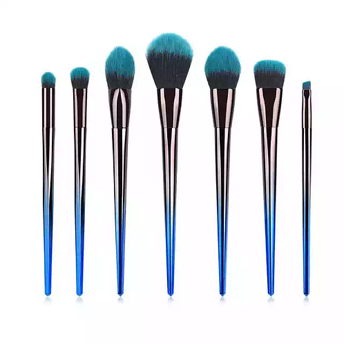 Luxury Beauty Makeup Brushes 7 Pcs Unicorn Eyeshadow Eyeliner Blending Brushes
