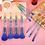 Thumbnail: Luxury Beauty Makeup Brushes Crystal Handle Set,10 PCs(Blue)