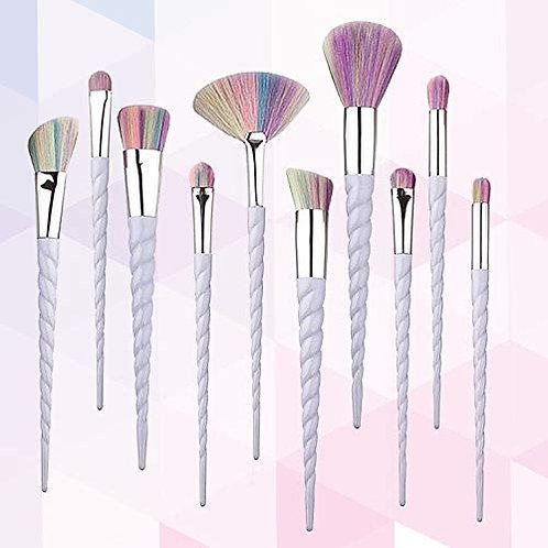 Luxury Beauty Makeup Brushes 10 Piece Multi Color Premium Makeup Brush Set