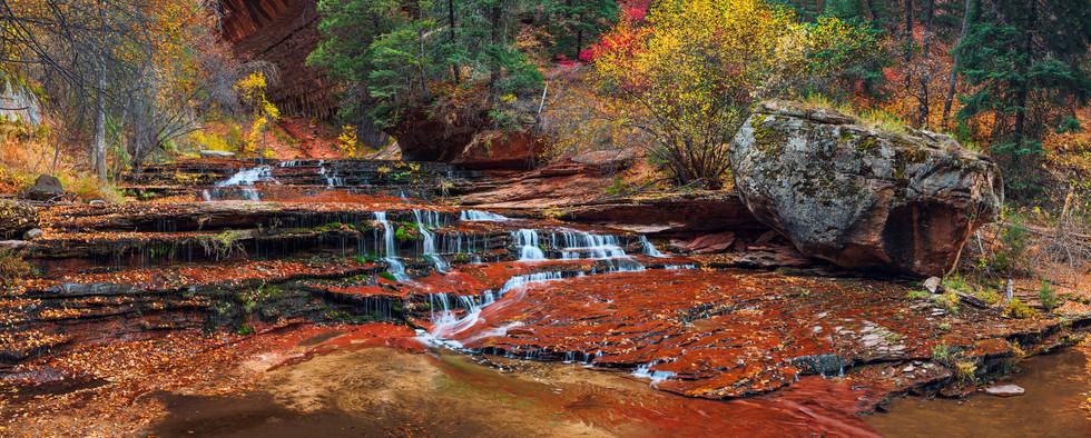 Zion Subway Waterfall