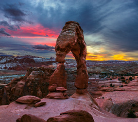 Delicate Arch into Sunset