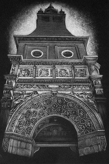 """La façade de l'église,Hesdin"""