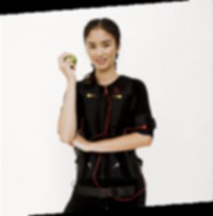 Sexy Apple Customer holding an apple