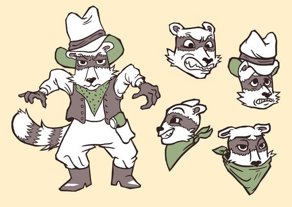 Character Model Sheet -- Rocky