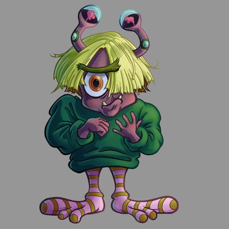 Nervous Creature Character Art