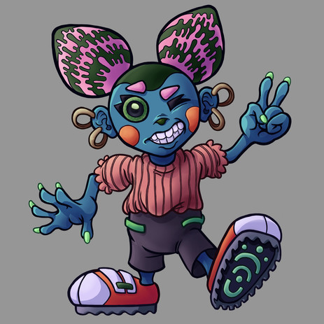 Alien Girl Character Art