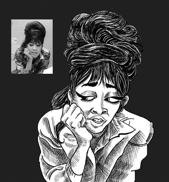 Ronnie Spector Caricature