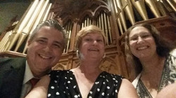 david website cathedral selfie with lori golias burany and jennifer romano
