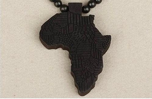 Beaded Africa Map Pendant