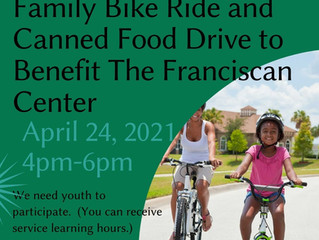 FAMILY BIKE RIDE AND CANNED FOOD DRIVE THIS WEEKEND