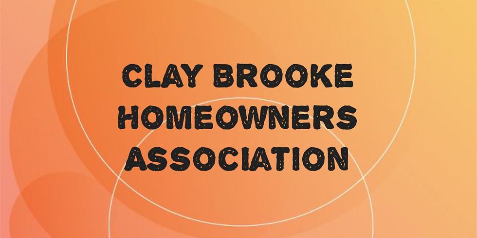Claybrooke Homeowners Association Community Walk