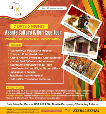 7 Days 6 Nights Asante Culture and Heritage Tour