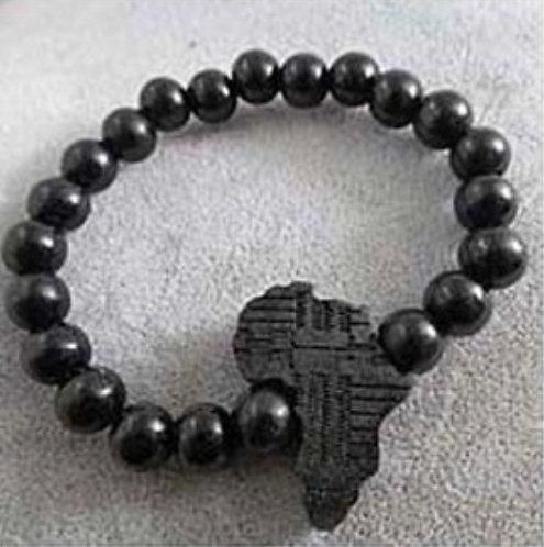 Africa Map Beaded Bracelet