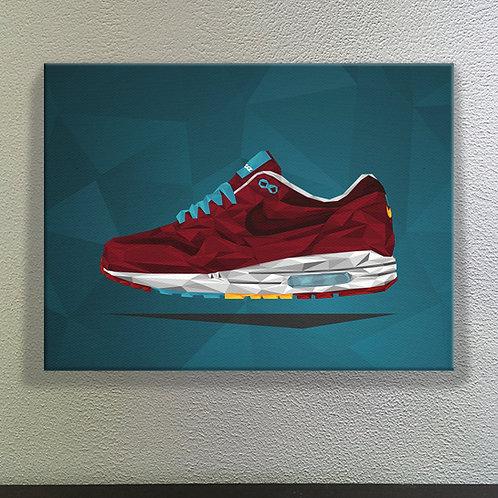 Nike Air Max 1 x Patta x Parra - Cherrywood